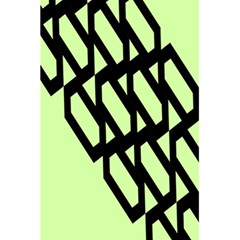 Polygon Abstract Shape Black Green 5.5  x 8.5  Notebooks