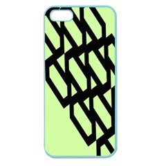 Polygon Abstract Shape Black Green Apple Seamless iPhone 5 Case (Color)