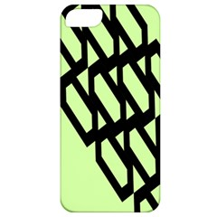 Polygon Abstract Shape Black Green Apple iPhone 5 Classic Hardshell Case