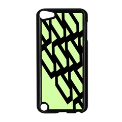 Polygon Abstract Shape Black Green Apple iPod Touch 5 Case (Black)