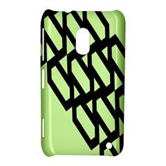 Polygon Abstract Shape Black Green Nokia Lumia 620