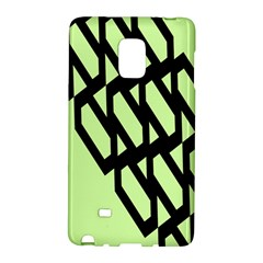 Polygon Abstract Shape Black Green Galaxy Note Edge