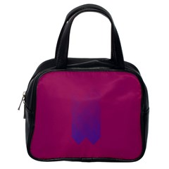 Purple Blue Classic Handbags (One Side)