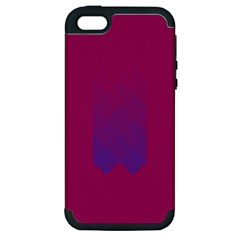 Purple Blue Apple iPhone 5 Hardshell Case (PC+Silicone)