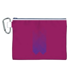 Purple Blue Canvas Cosmetic Bag (L)