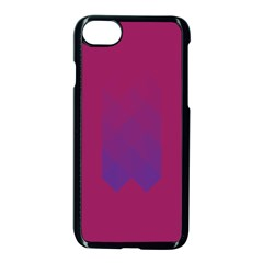 Purple Blue Apple Iphone 7 Seamless Case (black)