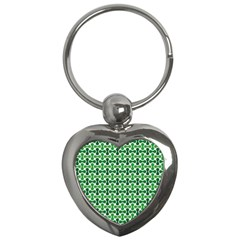 Green White Wave Key Chains (Heart)