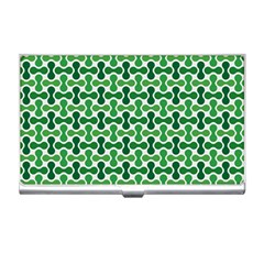 Green White Wave Business Card Holders