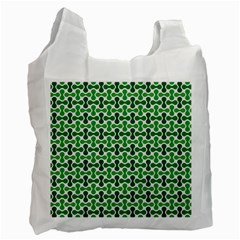 Green White Wave Recycle Bag (Two Side)