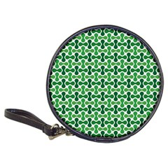 Green White Wave Classic 20 Cd Wallets