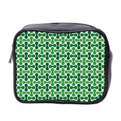Green White Wave Mini Toiletries Bag 2-Side