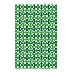 Green White Wave Shower Curtain 48  x 72  (Small)