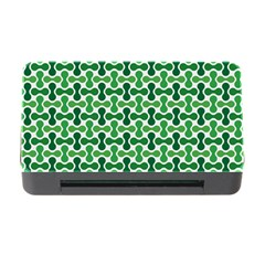Green White Wave Memory Card Reader with CF