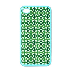 Green White Wave Apple iPhone 4 Case (Color)