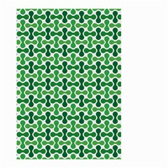 Green White Wave Small Garden Flag (Two Sides)