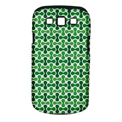 Green White Wave Samsung Galaxy S III Classic Hardshell Case (PC+Silicone)