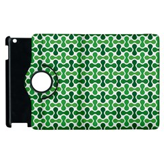 Green White Wave Apple iPad 2 Flip 360 Case