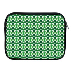 Green White Wave Apple iPad 2/3/4 Zipper Cases