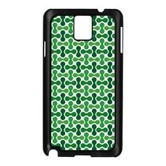 Green White Wave Samsung Galaxy Note 3 N9005 Case (Black)