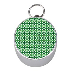 Green White Wave Mini Silver Compasses