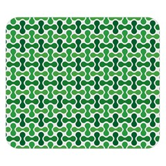 Green White Wave Double Sided Flano Blanket (Small)