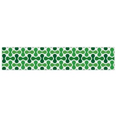 Green White Wave Flano Scarf (Small)