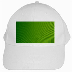 Green Wave Waves Line White Cap