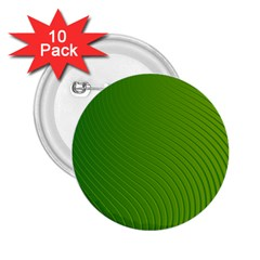 Green Wave Waves Line 2 25  Buttons (10 Pack)