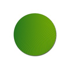 Green Wave Waves Line Magnet 3  (round)