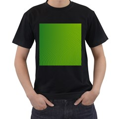Green Wave Waves Line Men s T Shirt (black) (two Sided)