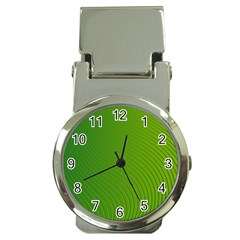Green Wave Waves Line Money Clip Watches