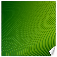 Green Wave Waves Line Canvas 20  x 20