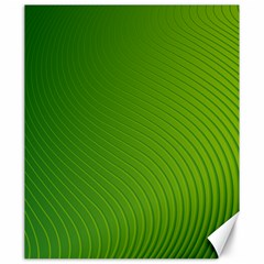 Green Wave Waves Line Canvas 20  x 24