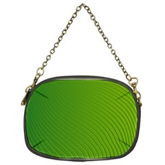 Green Wave Waves Line Chain Purses (Two Sides)