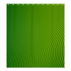 Green Wave Waves Line Shower Curtain 66  x 72  (Large)