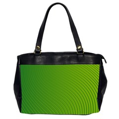 Green Wave Waves Line Office Handbags (2 Sides)