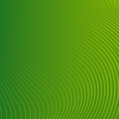 Green Wave Waves Line Magic Photo Cubes