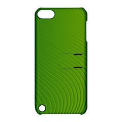Green Wave Waves Line Apple iPod Touch 5 Hardshell Case with Stand