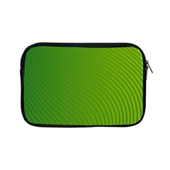Green Wave Waves Line Apple iPad Mini Zipper Cases