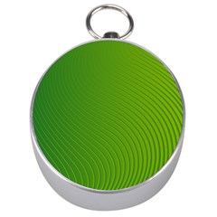 Green Wave Waves Line Silver Compasses