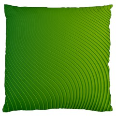 Green Wave Waves Line Large Flano Cushion Case (One Side)