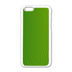 Green Wave Waves Line Apple iPhone 6/6S White Enamel Case