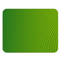 Green Wave Waves Line Double Sided Flano Blanket (Large)