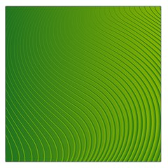 Green Wave Waves Line Large Satin Scarf (Square)