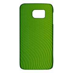 Green Wave Waves Line Galaxy S6
