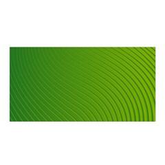 Green Wave Waves Line Satin Wrap