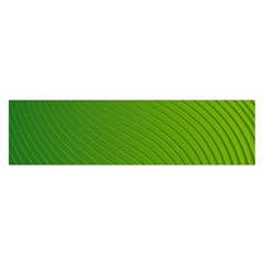 Green Wave Waves Line Satin Scarf (oblong)