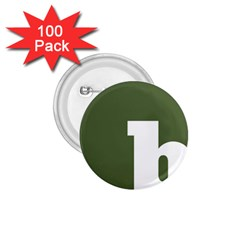 Square Alphabet Green White Sign 1 75  Buttons (100 Pack)