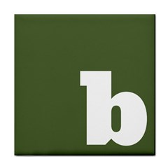 Square Alphabet Green White Sign Face Towel