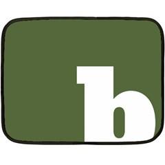 Square Alphabet Green White Sign Fleece Blanket (Mini)